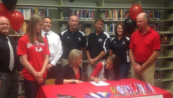 North Buncombe senior Callie Rhea has signed to run college track for Gardner-Webb.