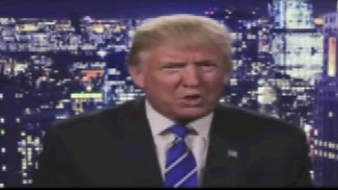 """This screen grab from a video post on Donald Trump's official Facebook account shows the Republican presidential nominee apologizing regarding comments he made in 2005. Trump insisted Saturday he would """"never"""" abandon his White House bid, facing an intensifying backlash from Republican leaders across the nation who called on him to quit the race following the release of his vulgar and sexually charged comments caught on tape."""