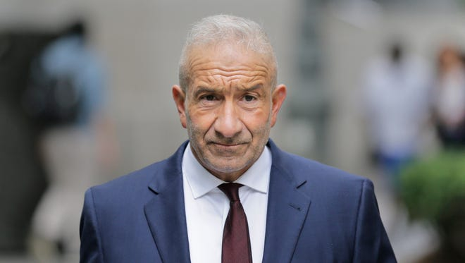 Alain Kaloyeros, a former president of the State University of New York's Polytechnic Institute, arrives to federal court in New York. He was found guilty in a bid-rigging trial on July 12, 2018.