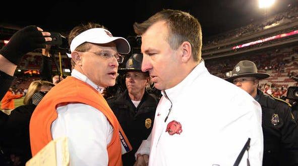Arkansas coach Bret Bielema said he and Auburn coach