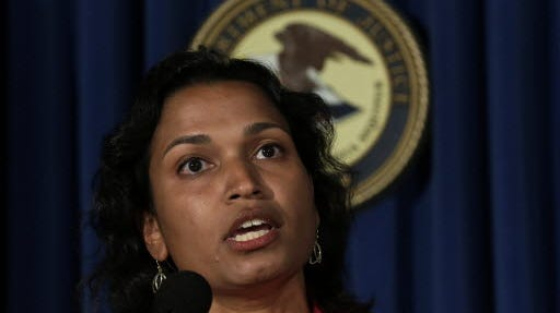 Mythili Raman, U.S. Acting Assistant Attorney General, speaking at a May 2013 news conference.