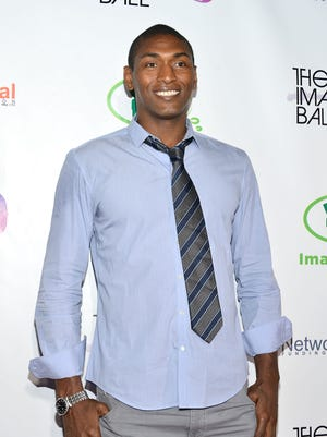 WEST HOLLYWOOD, CA - AUGUST 06:  Metta World Peace arrives at The Imagine Ball held at House of Blues Sunset Strip on August 6, 2014 in West Hollywood, California.  (Photo by Araya Diaz/Getty Images)