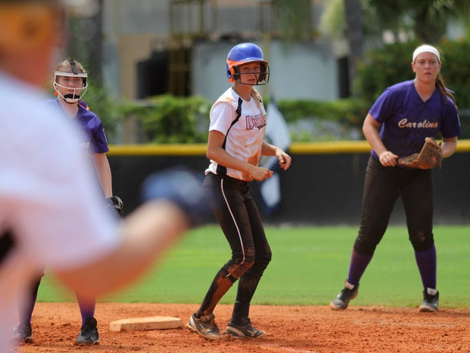 Scenes from the Big League Softball Southeast Regional finals Monday afternoon between Florida District 9 and North Carolina. Florida beat Carolina, 6-0.