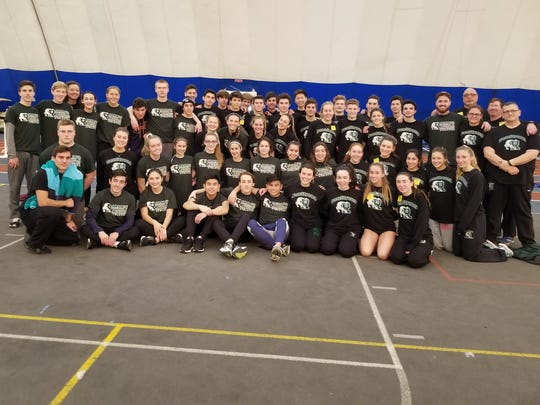 Ramapo indoor track team at the state sectional Group