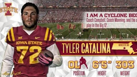 """Tyler Catalina had committed to Iowa State, but he said he's """"exploring all options."""""""