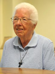 Sister Bernard Marie Campbell is seen in this 2015 News Journal photograph at Mansfield St. Peter's before she and Sister Paula Bingert moved to Joilet, Illinois. The Sisters of St. Francis ended 144 years of continuous service to St. Peter's & Mansfield when she and Sister Paula left.