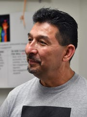 """Rosendo """"Ro"""" Ramos received the Dorothy Huffman Award Thursday at Zundy Elementary School. Ramos is a third grade teacher and according to the award, demonstrates sustained dedication to third grade students."""