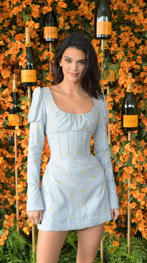 Kendall Jenner attends the Ninth-Annual Veuve Clicquot