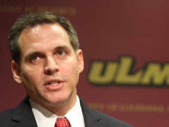 ULM athletic director Brian Wickstrom