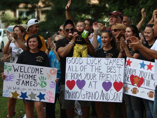 James Quesada and his family of South Plainfield got a rousing welcome home from friends and volunteers during the Aug. 12 George to the Rescue reveal.