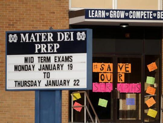 Mater Dei Prep High School in Middletown has been in