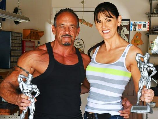 Mark Martin and his girlfriend Viorela Chin pose in
