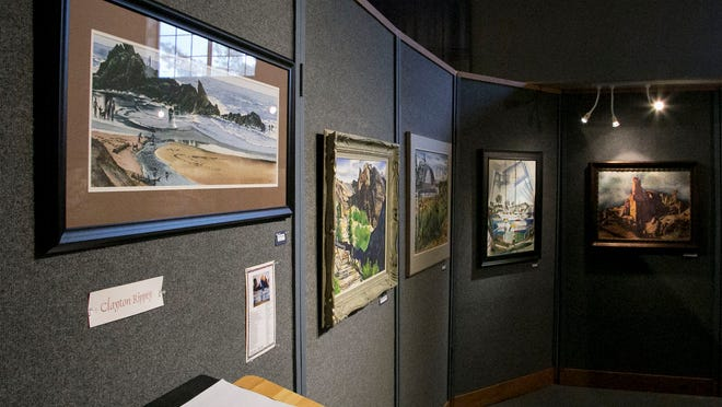 The work of artist Clayton Rippey is now on display at the Frontier Homestead State Park Museum.
