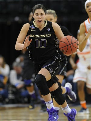 Washington senior Kelsey Plum leads the nation in scoring and is the 12th woman to surpass 3,000 career points.