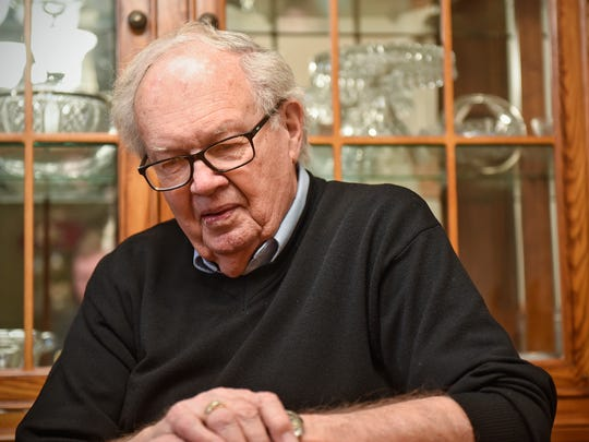 Bob Benson recalls memories of his father, George, during an interview Wednesday, Dec. 13, in St. Cloud.