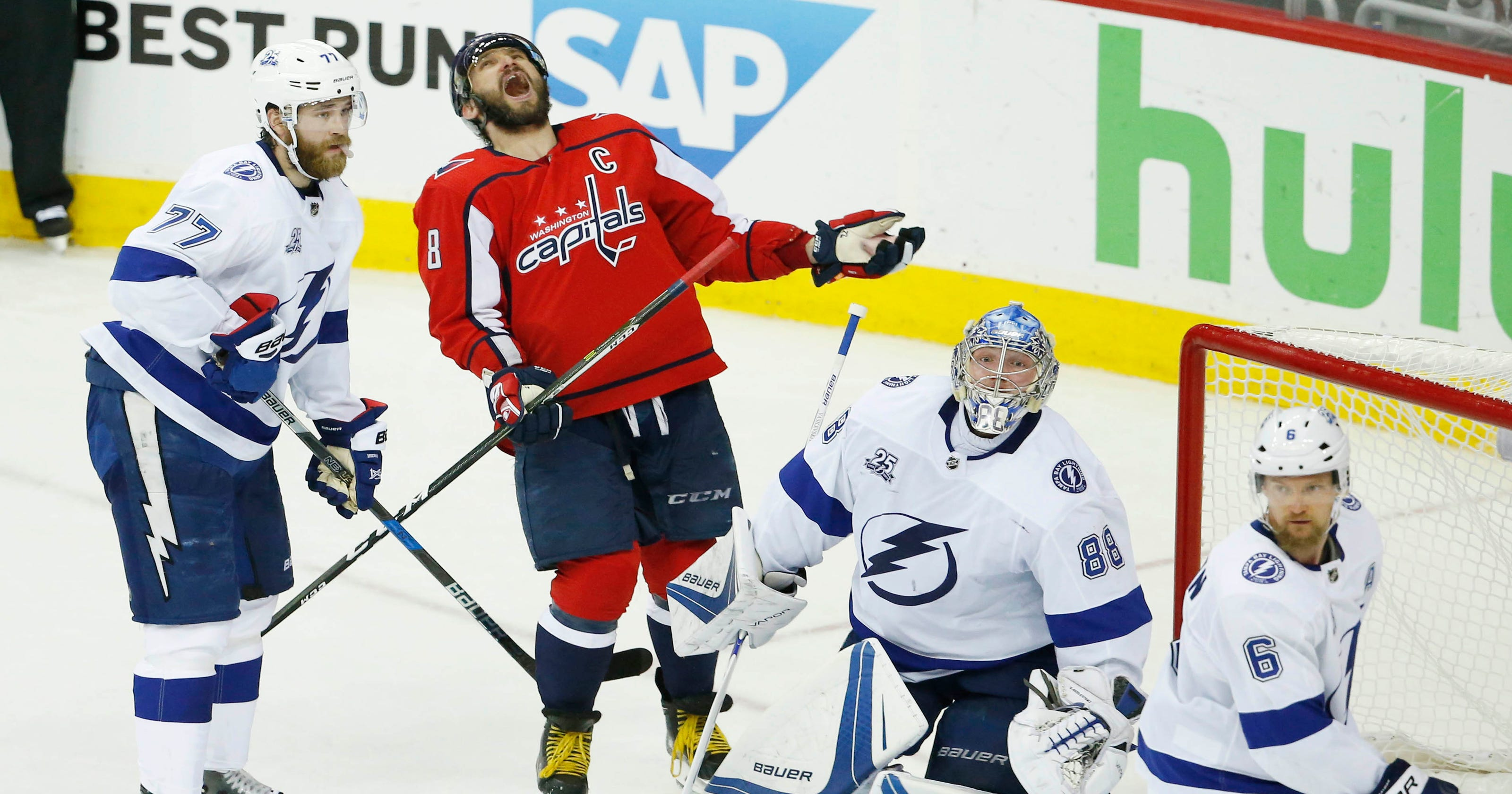 8027cd5dd3e NHL Playoffs  Capitals lose momentum as Lightning tie series 2-2