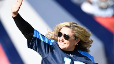 Heather Melton, wife of man slain in Las Vegas mass shooting, honored at Titans game
