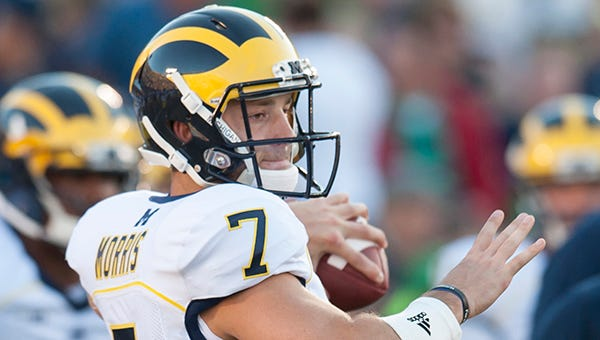 Shane Morris came on in relief of Devin Gardner against Utah.