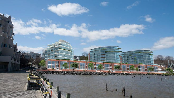 A rendering of TZ Vista, a proposal for the Nyack waterfront.