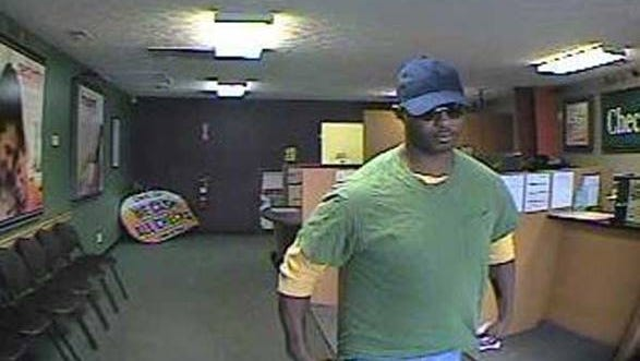 Suspect wanted in connection to the Check N Go robbery in Clanton, Ala.