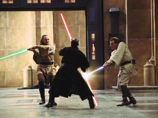 Jedi knights Qui-Gon Jinn (Liam Neeson) and Obi-Wan