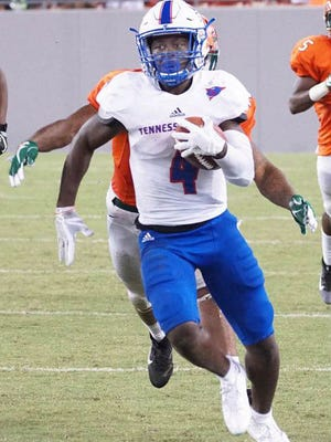 Sabree Curtis is one of six running backs Tennessee State has used this season.
