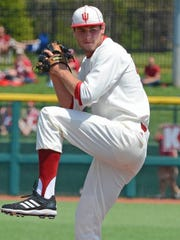 Bloomington native Jake Kelzer (pictured) has emerged as one of IndianaÕs most important relief pitchers this season, as the Hoosiers look to return to the College World Series. He began his college career as a swimmer as well, but he eventually chose baseball full-time.