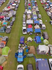 Campers, as far as the eye can see, at the 2016 Okeechobee Music & Arts Festival.