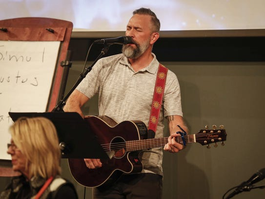 Perry Ross, worship minister at Lutheran Church of