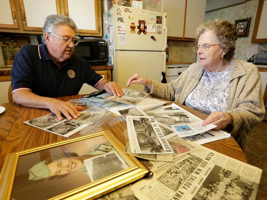 Jim and Peggy Guell of North Fond du Lac go through