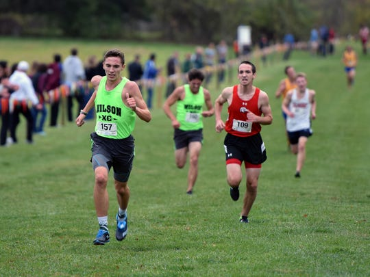 Wilson Memorial's Vincent Leo sprints to the finish