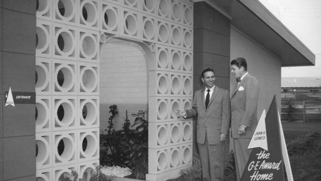 Ronald Reagan, future president of the United States and spokesman for General Electric, promoted Long's 'electric' home model, circa 1950's.  Buster Keaton, comedic actor, was another celebrity whose Maryvale promotional videos can be found on YouTube. They are quite entertaining.