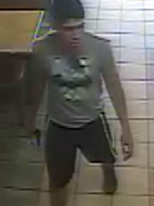 Security camera image of man suspected in an armed robbery on Sept. 12 at the Subway restaurant at 3333 N. Yarbrough Drive.