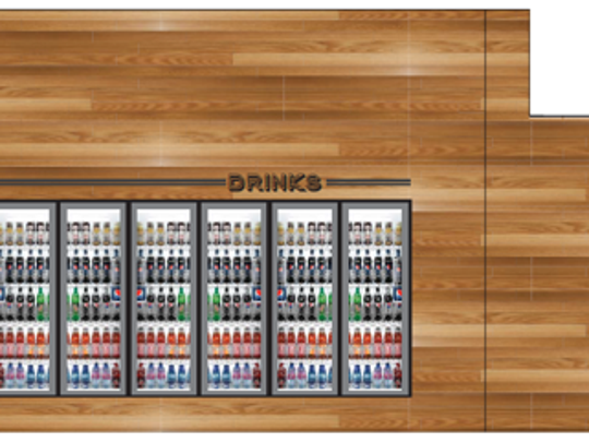 A planned grab-and-go concessions area on the 300-level