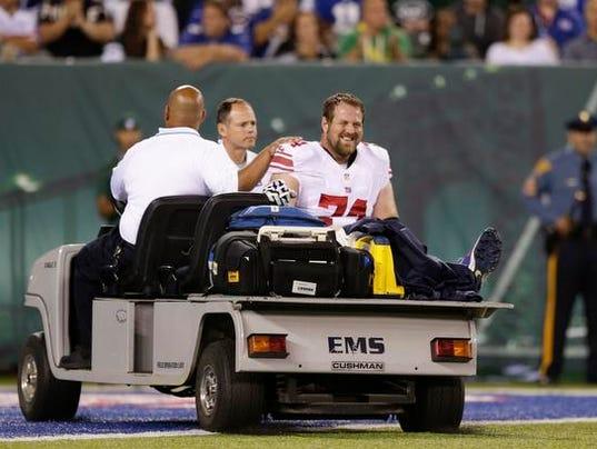 Giants Schwartz on cart