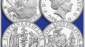 400th anniversary coins from the U.S. and U.K. mints.
