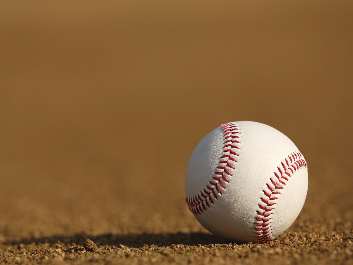 Baseball on the Infield Dirt