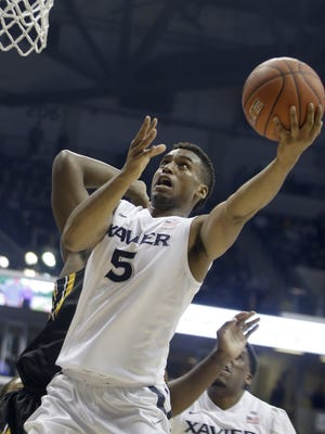 Xavier's Trevon Bluiett drives to the basket.