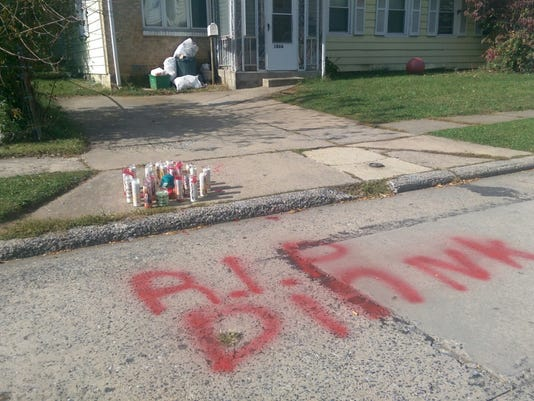 A day after York City Police shot Dequan Williams, 28, to death outside of his home in the 1000 block of Kelly Drive, mourners had created a memorial at the scene. Police say they shot Williams after he refused to put down a knife.