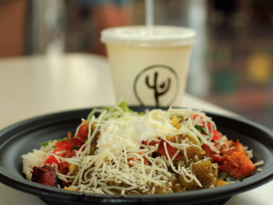 Qdoba is a fast-casual restaurant focusing on Mexican food.
