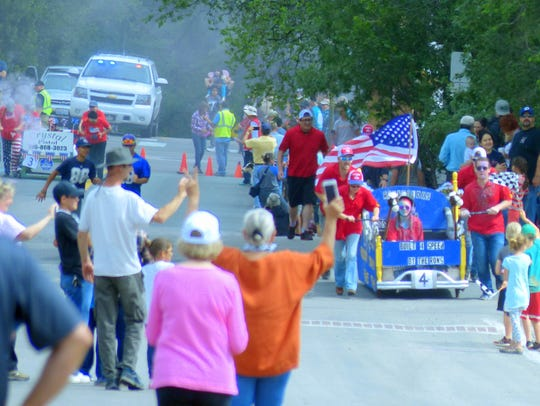 A bed race fund raiser was staged by the High Mountain