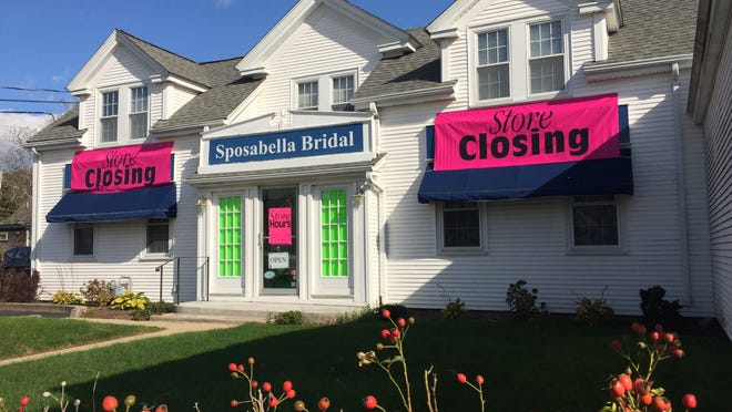A Hyannis institution for nearly 20 years, Sposabella Bridal at 28 Barnstable Rd. is closing in December after servicing more than 8,000 brides, brides maids, mothers, flower girls and proms.
