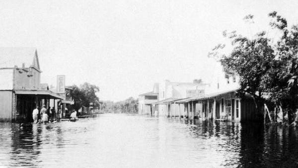 Downtown LaBelle after the Caloosahatchee flooded in 1929