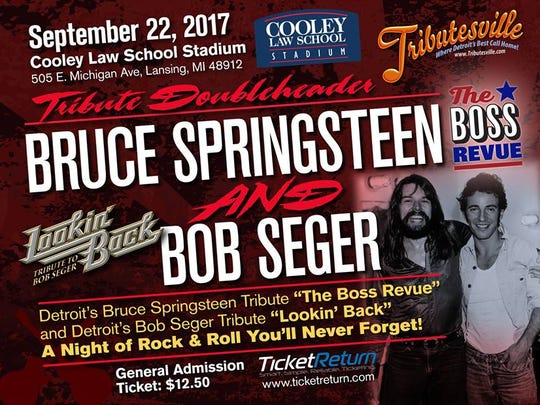 Two cover bands that specialize in Bob Seger and Bruce Springsteen music are coming to downtown Lansing.