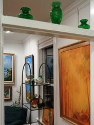 A glimpse through one doorway in the cozy Art House