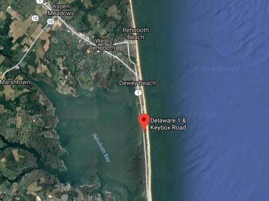 A man was killed near Keybox Road south of Dewey Beach