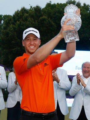 Daniel Berger was all smiles after he won his first PGA Tour tournament in Memphis last year.