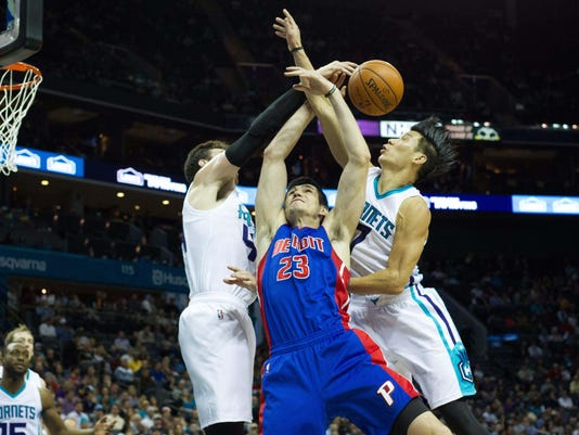 NBA: Detroit Pistons at Charlotte Hornets
