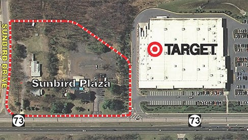Sunbird Plaza is planned for a spot along Route 73 and Sunbird Drive in Marlton.
