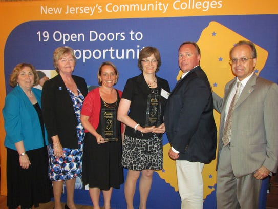 From left: Middlesex County College President Joann